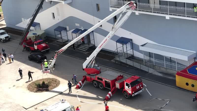 Проведение показательного пожарно тактического учения 22 мая