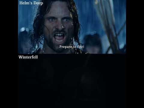 Helm's Deep Vs Winterfell Battle