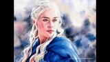 Game of Thrones Speed Painting Daenerys Targaryen (Emilia Clarke)