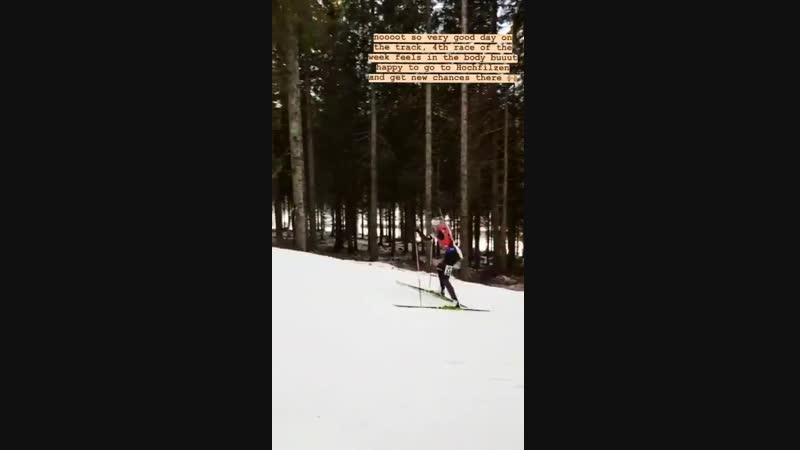 Регина Оя во время гонки в Поклюке (декабрь 2018)