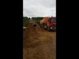 Размытую дорогу в Мирнинском районе починили. 18.08.18г