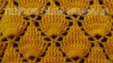 Crochet Punto Hojas en Relieves paso a paso para chales y gorros