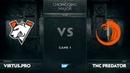 [EN] vs TNC Predator, Game 1, The Chongqing Major Group A