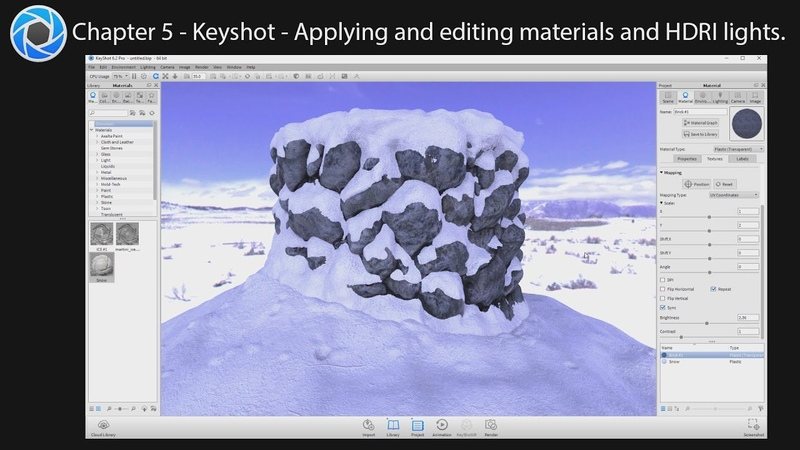 3D Sculpting with Photos - Part 5 - Keyshot - Materials, HDRI Mapping and Rendering