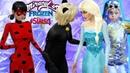 The Sims 4 Frozen Elsa Met Miraculous Cat Noir and Ladybug