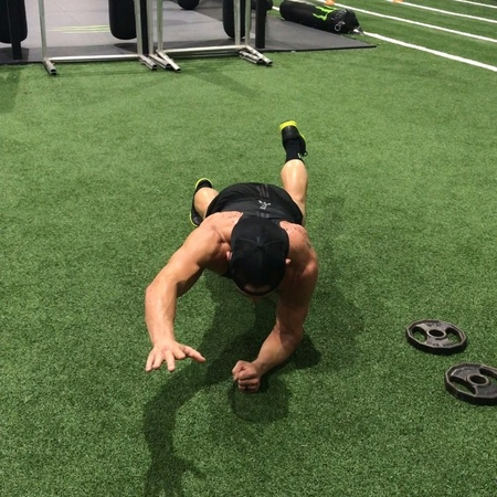"Michael Chandler on Instagram: ""This was a great way to finish our workout with @drcpeacock - Plank position for a minute with alternating legs and..."
