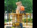 Работа по дереву бензопилой