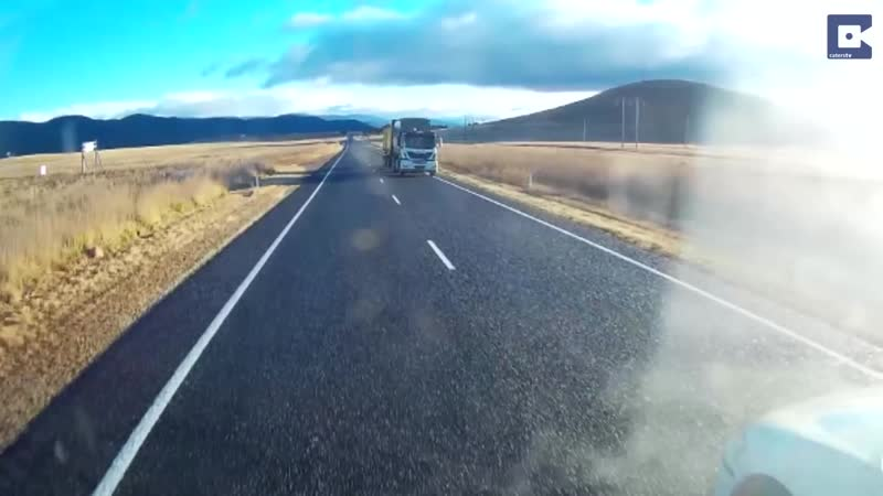 Dashcam Shows Driver Narrowly Avoid Head-on Collision