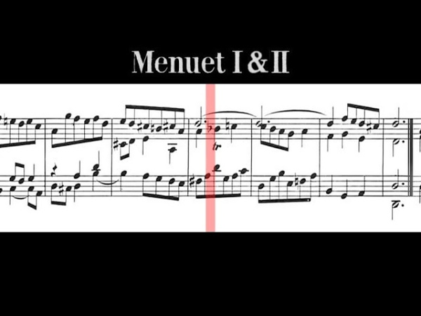 BWV 812 French Suite No.1 in D Minor (Scrolling)