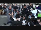 Полиция жёстко разогнала ультраортодоксальных евреев во время протестов