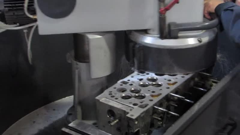 Шлифовка алюминиевый головки блока цилиндров с форкамерой