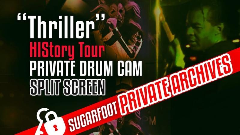 Thriller Sugarfoot DRUM CAM split screen - HIStory Tour