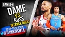 Damian Lillard vs Russell Westbrook INTENSE Duel 2019 WCR1 Game 2 - Russ With 14, Dame With 29!