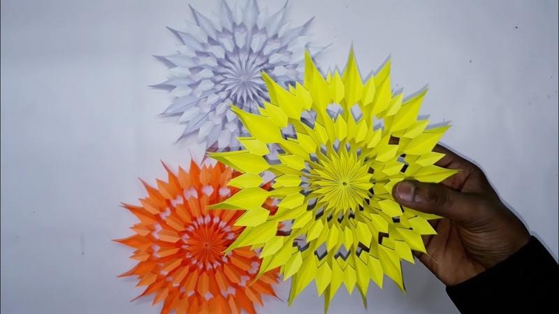 3D Paper Star for Christmas Decor | How to make a 3D Paper Xmas Star DIY Tutorial