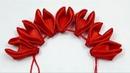 Beautiful ribbon flower making/hand embroidery ribbon work flower tutorial