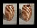 Tournage sur bois, Vase segmenté de 1000 pièces !