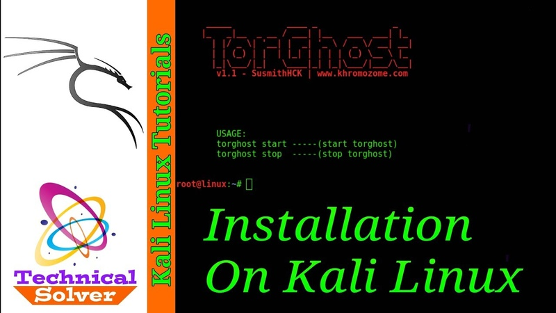 Torghost - Installation on Kali Linux [ Become Anonymous Online ]