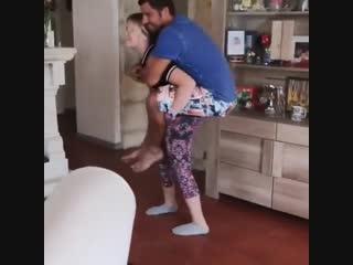 Ponygirl piggyback