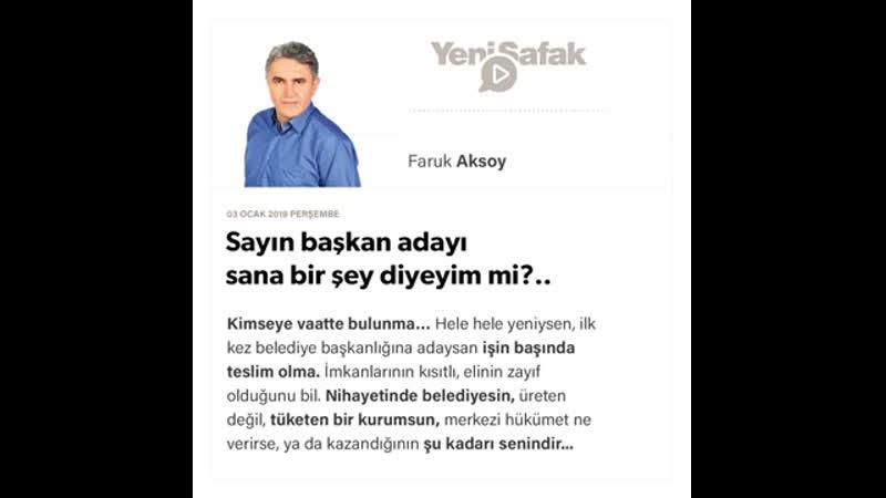 Faruk Aksoy Sayın başkan adayı sana bir şey diyeyim mi؟ 03 01 2019