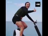 Я буду долго гнать велосипед, и на воде его остановлю!