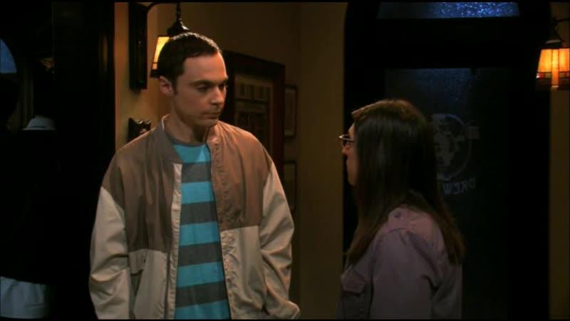 [4х10] Шелдон провожает Эми на свидание с Заком / Эми отказывает Заку
