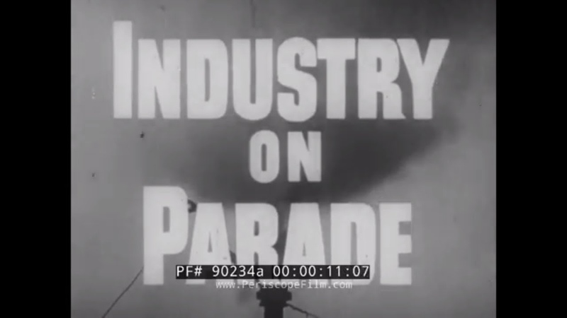 1950 INDUSTRY ON PARADE VACUUM MACHINES X-RAY TUBES FROZEN FISH HERSHEY CONVEYER BELTS 90234a