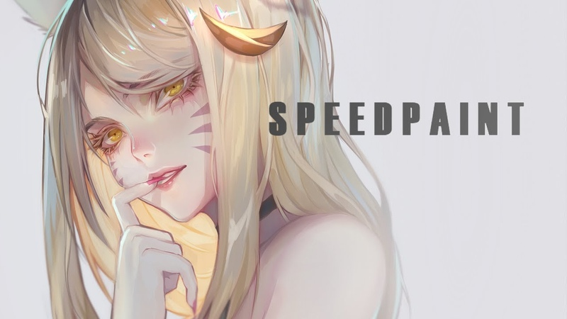 Speedpainting KDA Ahri - League of Legends - by theCecile