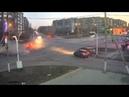 Столкновение автомобилей «Опель Астра» и «ВАЗ» в Новотроицке попало в объектив видеокамеры