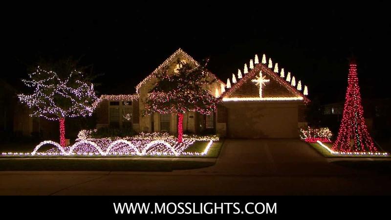 Complete 2011 Christmas Light Show LOR Light o rama in League City TX