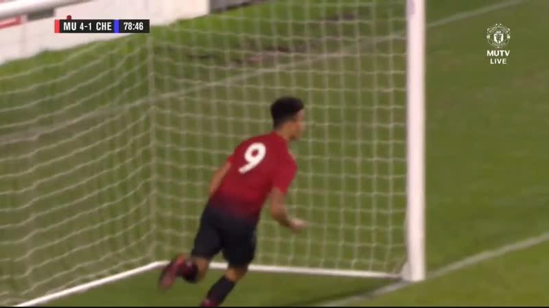 Юношеский Кубок Англии 3 й раунд Манчестер Юнайтед Челси ГОЛ Мэйсона Гринвуда 4 1