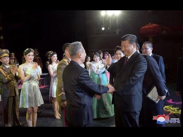 КЦТВ HD Визит дружественной делегации деятелей искусства КНДР в Китай 2019 КОРЕЙСКИЙ