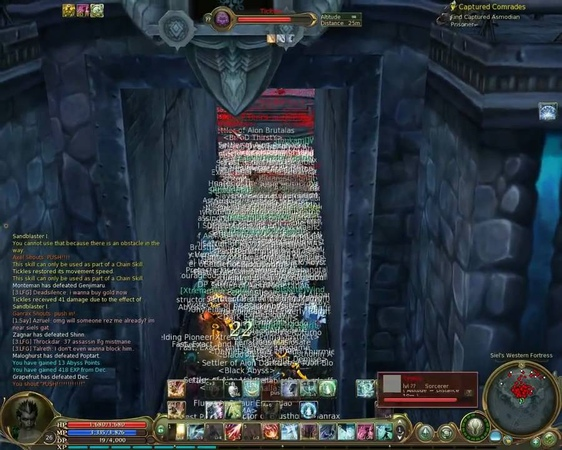 Aion Asmodian Plows through Siege of Elyos Fortress Azphel
