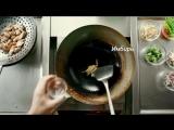 Гречневая лапша с курицей с соусом Терияки