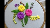 Hand Embroidery - Roses With Woven Wheel Stitch - Spider Web Stitch For Beginners