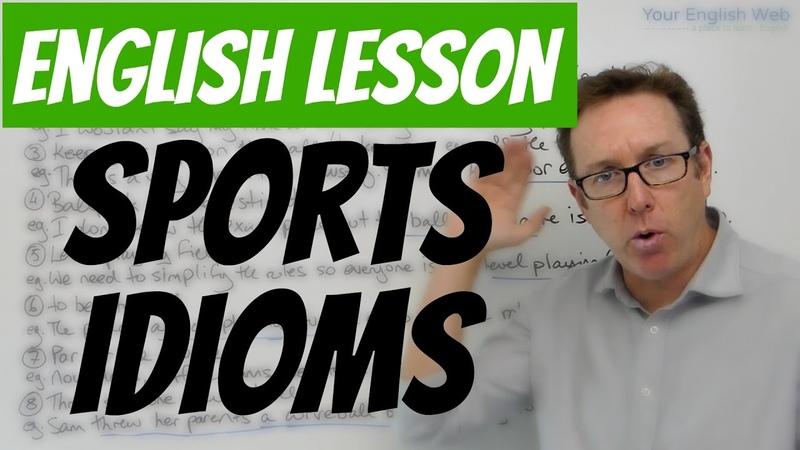 English lesson - Sports idioms