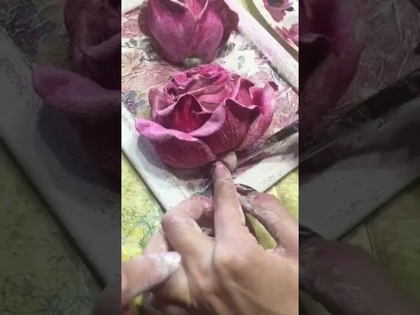Барельеф. Цветы из шпатлевки