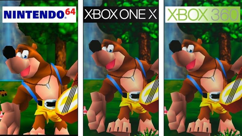 Banjo Tooie N64 vs 360 vs ONE X 4K Graphics Comparison Comparativa