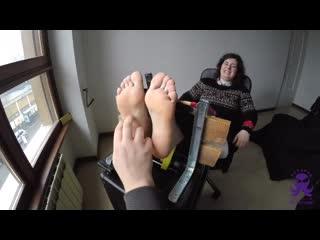 Next Door Couple - Feet In The Stocks - How To Tickle