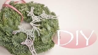 Как быстро сделать Новогодний венок из НОБИЛИСА / DIY Tsvoric / New Year's wreath from NOBILIS