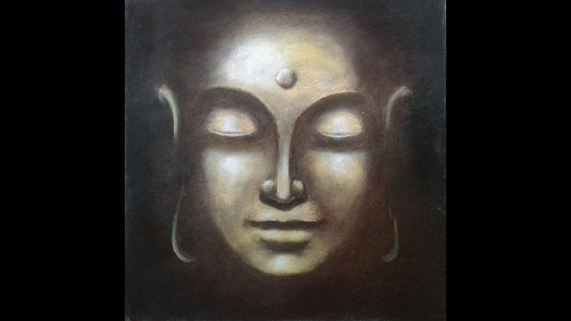 LORD BUDDHA   Soft Pastel Drawing   By Akash Roy
