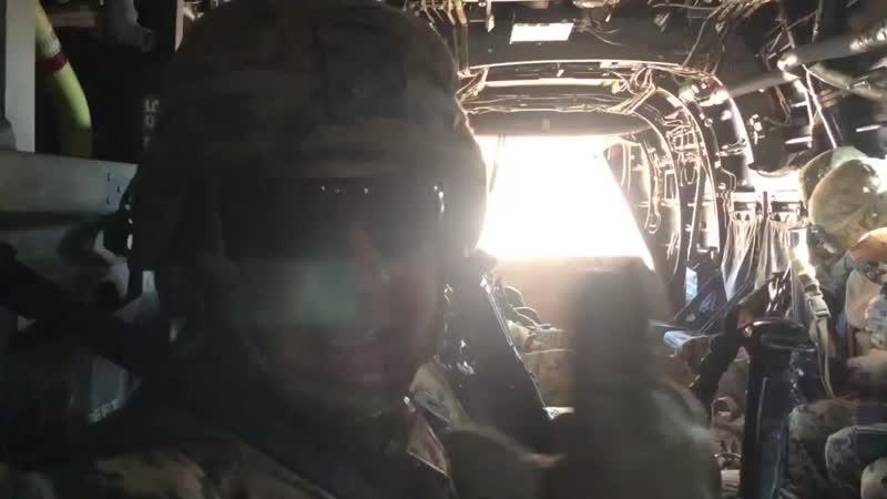 Привіт від військових США