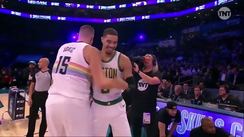 NIKOLA JOKIC VS JAYSON TATUM Skills Challenge FULL HIGHLIGHTS 2019 Feb 16