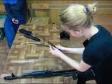 Russian girl disassembling Ak 47 in 20 seconds