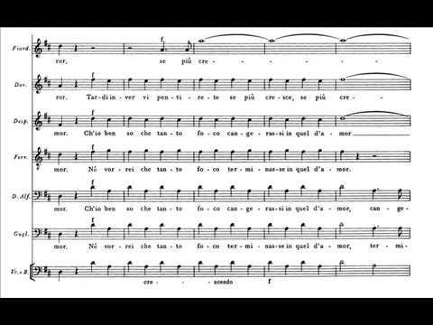 Mozart, Così fan tutte - Stretta del Finale I - Dammi un bacio (score)