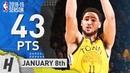 Klay Thompson EPIC Highlights Warriors vs Knicks 2019.01.08 - 43 Pts, 2 Rebounds!