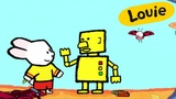 Cartoon for kids - Louie draw me a Robot HD Learn to draw