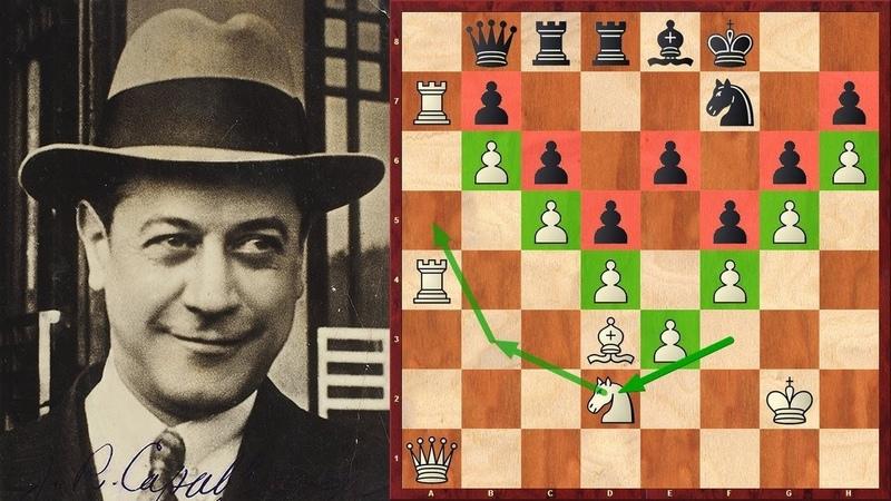 Шахматы. Великолепный СТРАТЕГИЧЕСКИЙ ШЕДЕВР Хосе Рауля Капабланки!