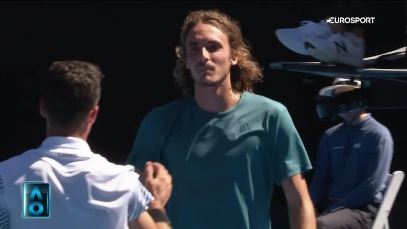 Перфоманс Циципаса на пути в полуфинал Australian Open