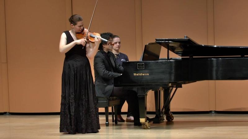 Finalist Hannah Tarley at the Elmar Oliveira International Violin Competition