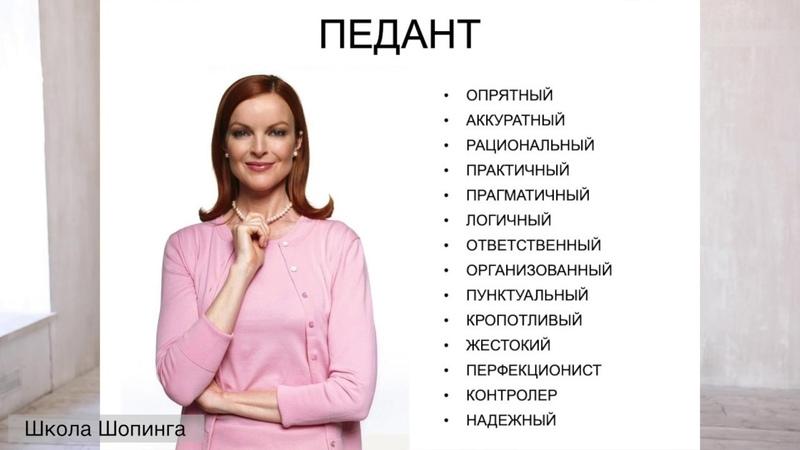 Школа Шопинга - Психология стиля. Как одеваться и вести себя с разными типами людей.